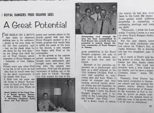 An Article from the Pentecost Evangel (US) 1968. Photo via John Vazquez